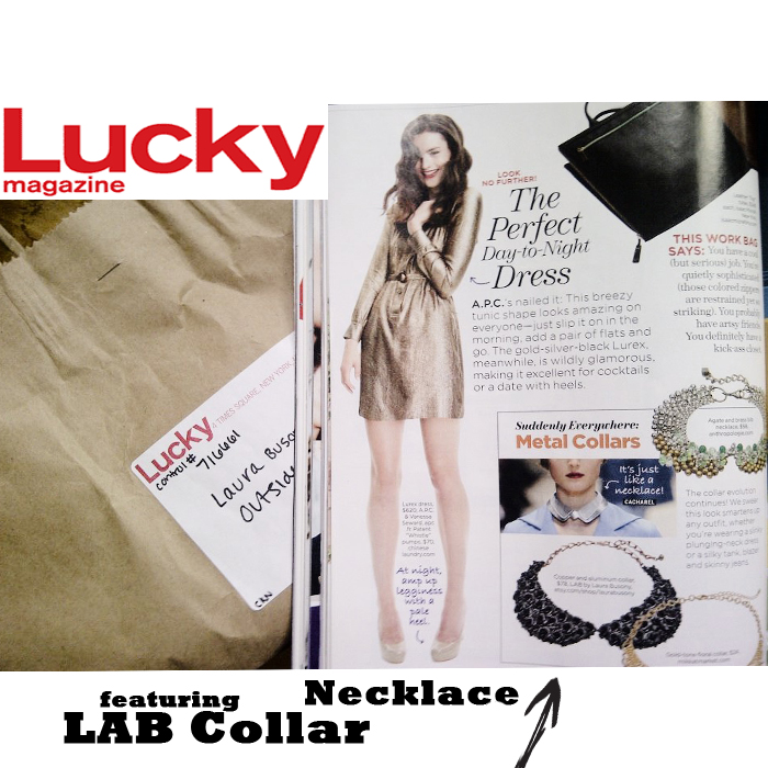LAB Collar Necklace in Lucky Magazine