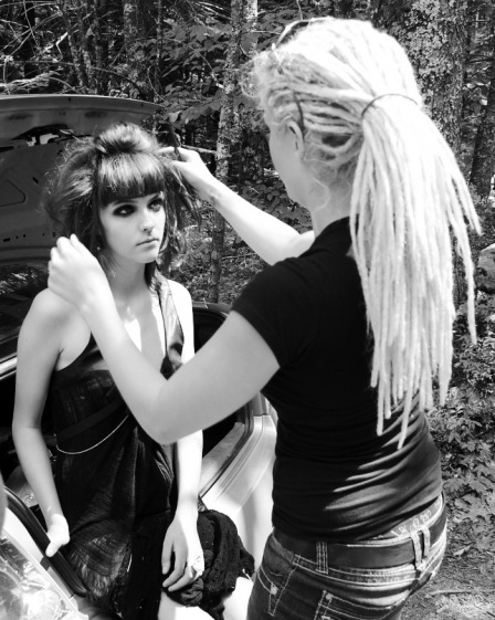 Hair Stylist Liz Kidder and Dawnmarie Currier