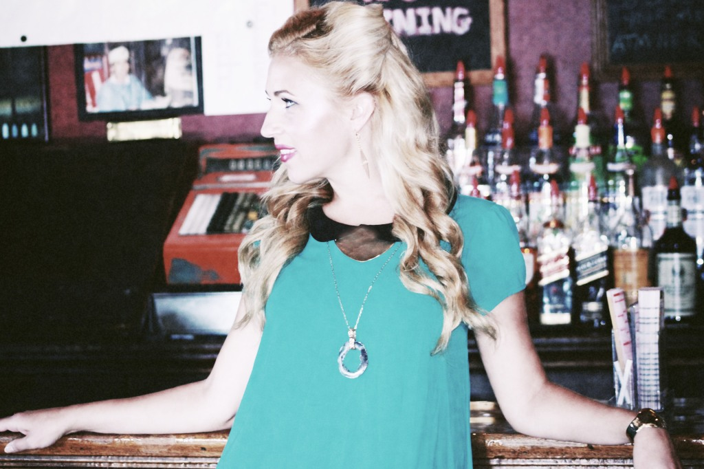 Renee Marcou wearing Bevin Jewelry