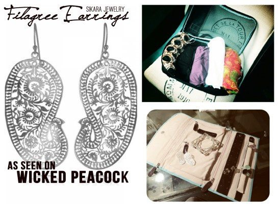Filagree Earrings featured on Wicked Peacock