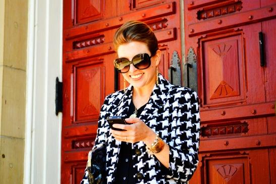 The Boston Fashionista wearing Pearl Fringe Bracelet