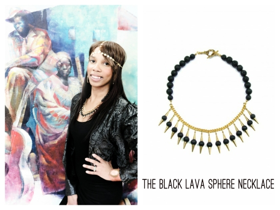 Black Lava Sphere Necklace