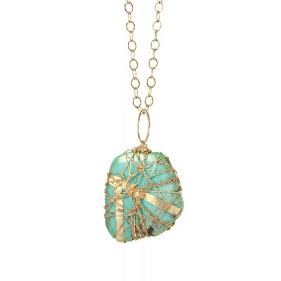 Turquoise Wrap Necklace