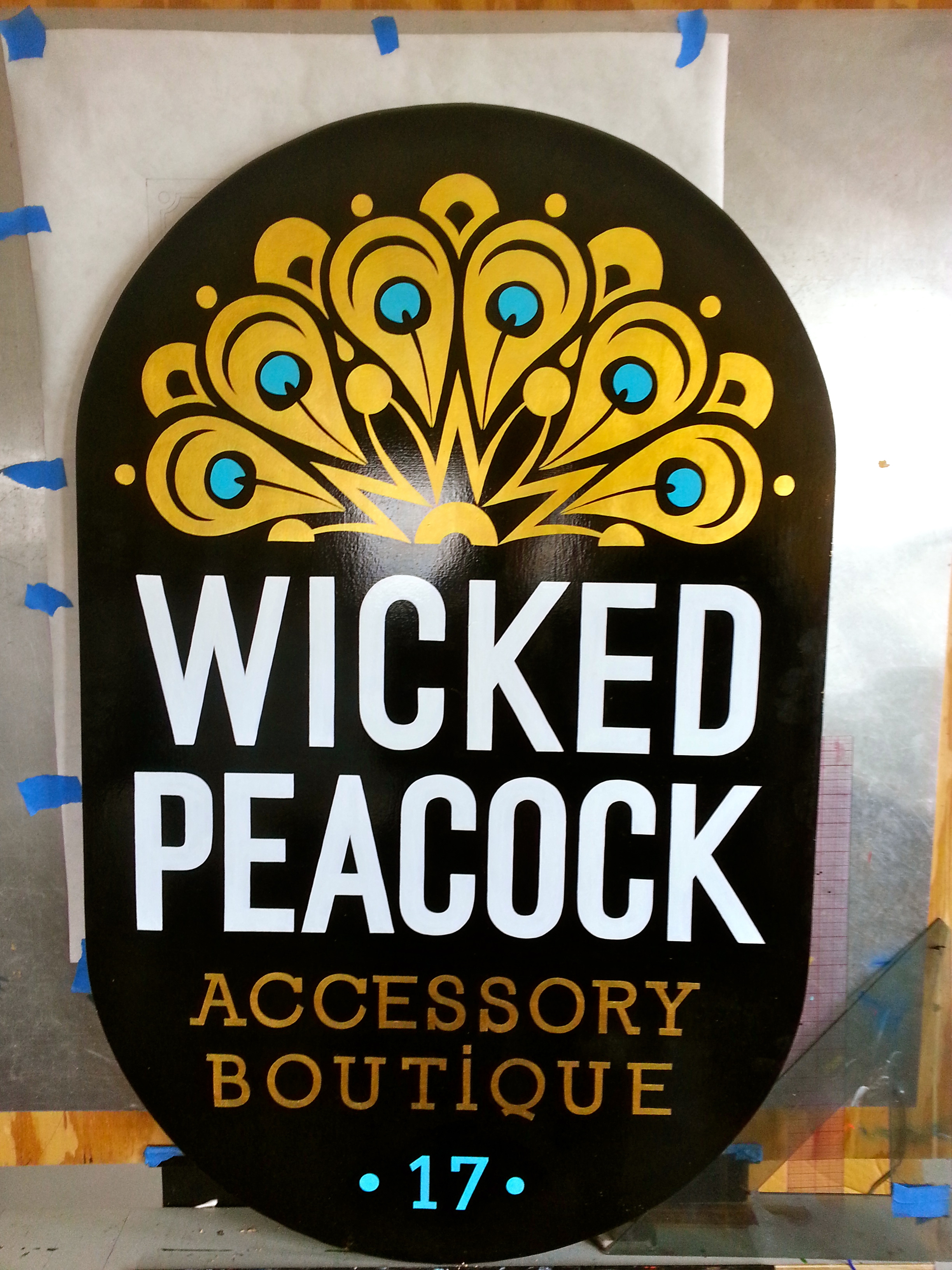Finished Sign Wicked Peacock